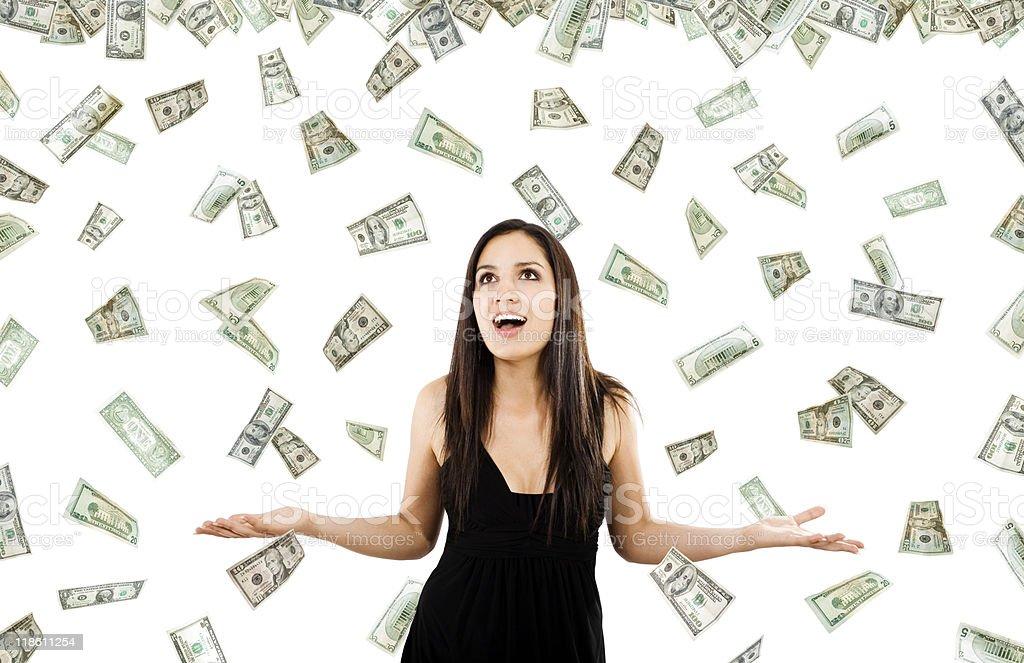 It's raining money stock photo