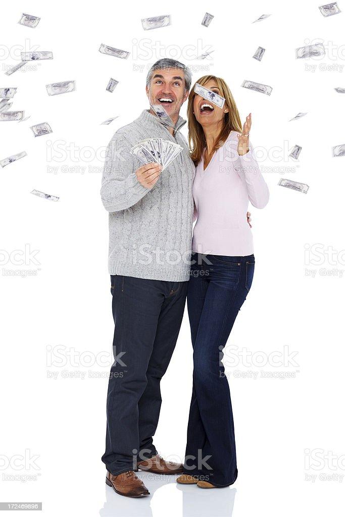 Its raining money stock photo