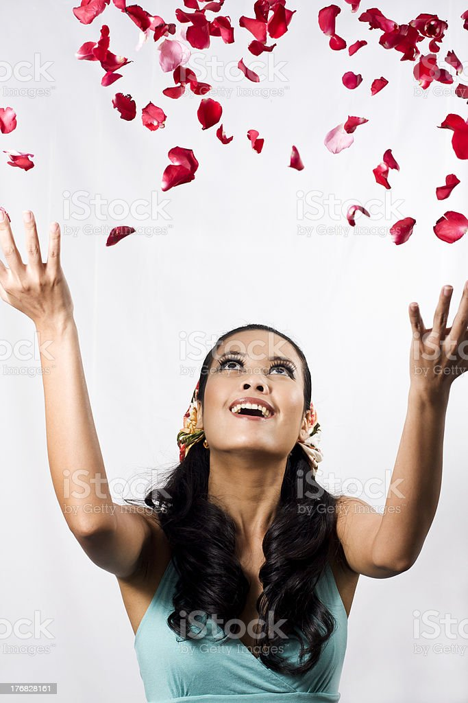 It's Raining Roses royalty-free stock photo