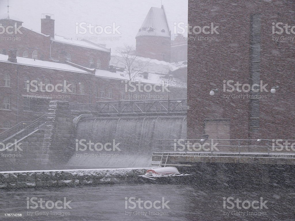 Its snowing royalty-free stock photo