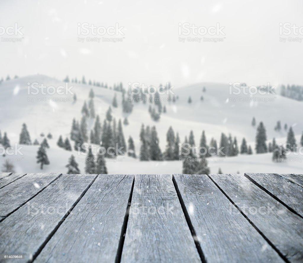 It's snowing stock photo
