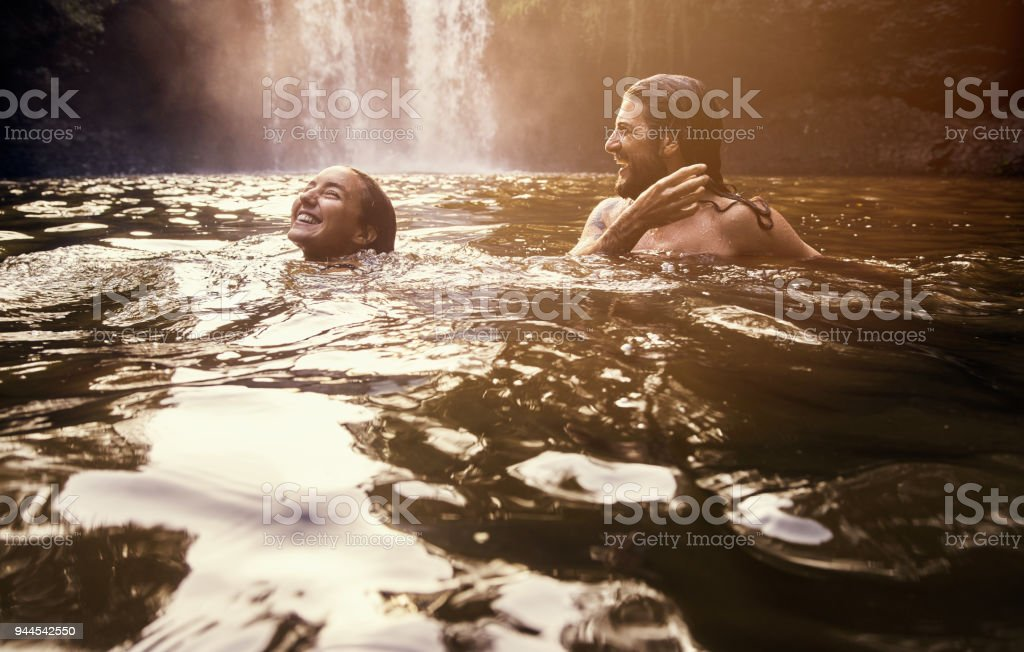 It's so blissful out here stock photo