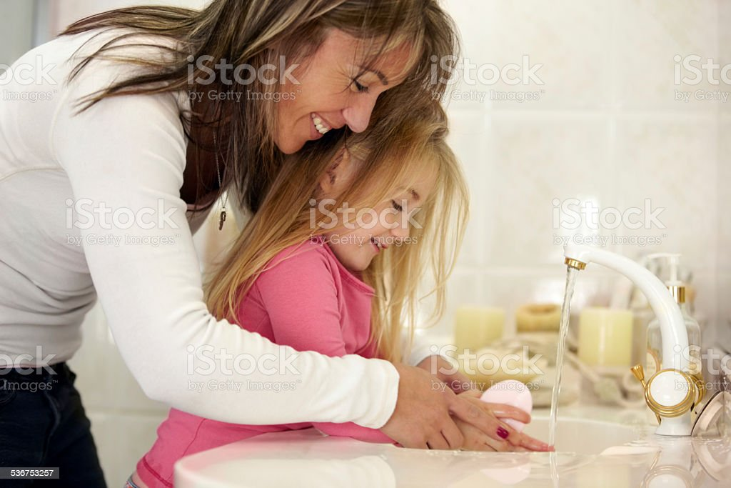 It's so important to wash your hands... stock photo