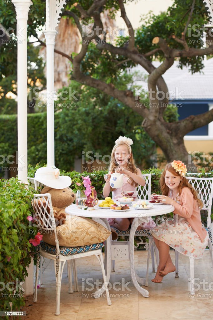 It's tea time in imagination land royalty-free stock photo