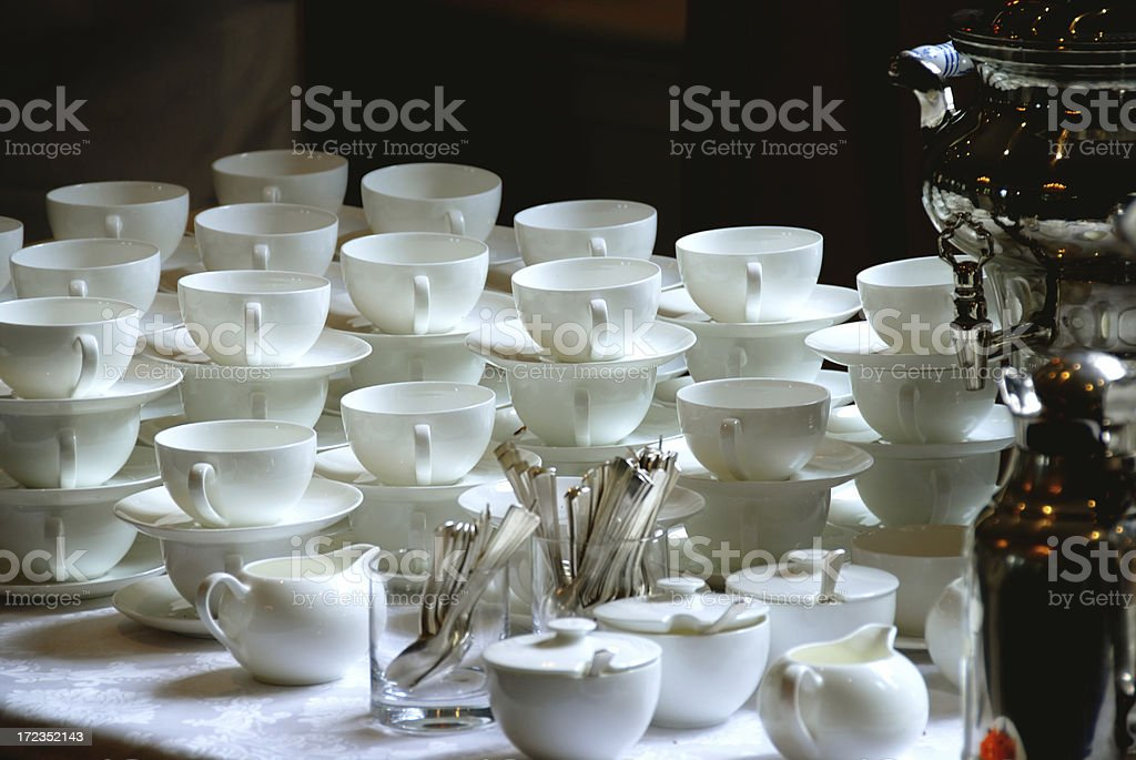 Se ´ s teatime foto de stock libre de derechos