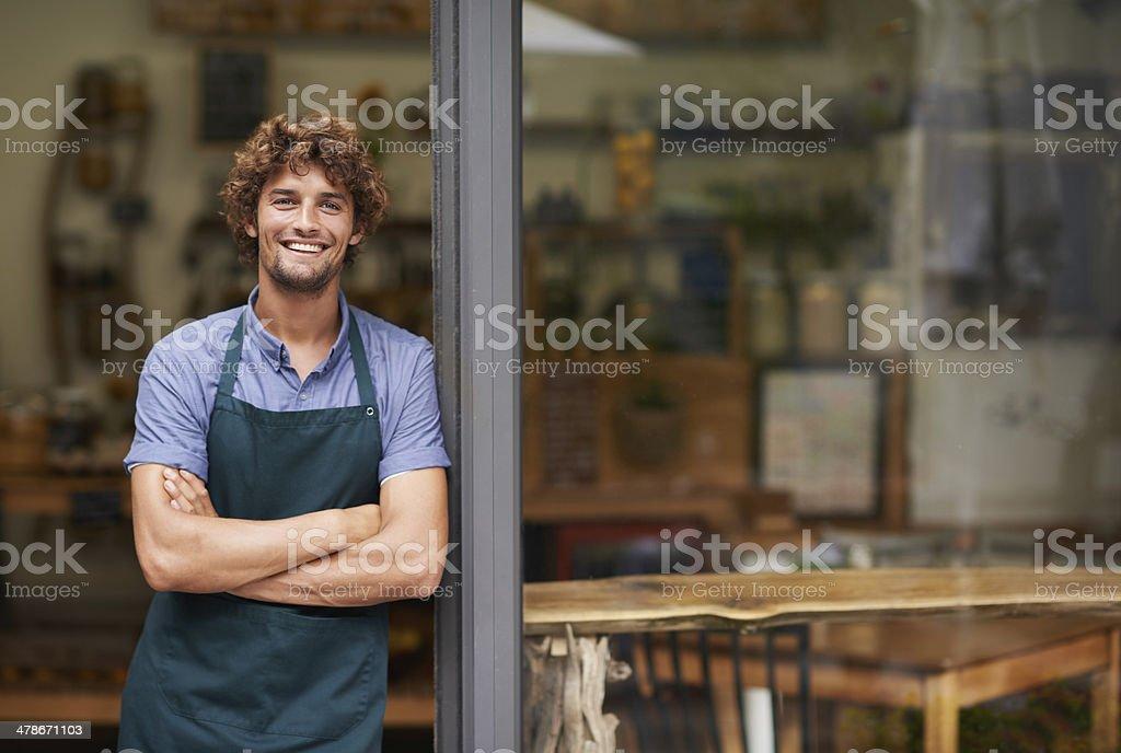 Это наилучший кафе в городе стоковое фото