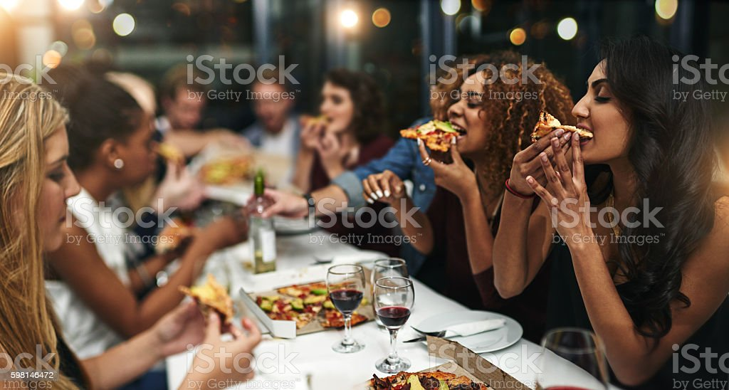 It's the best way to spend an evening stock photo