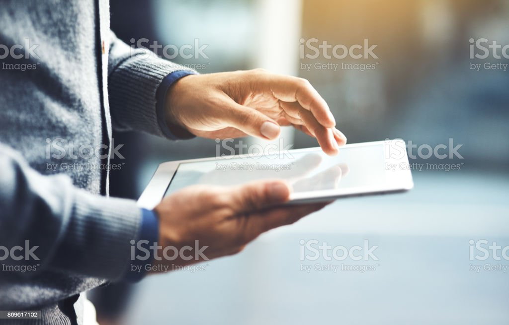 It's the handiest device you could use stock photo