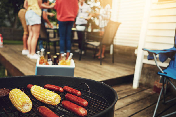 it's the weekend, time to get your grill on - barbecue grill stock photos and pictures