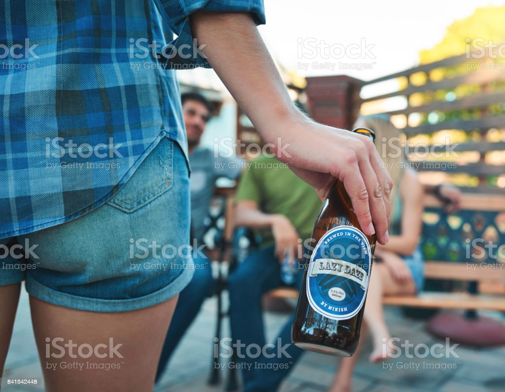 It's the weekend, turn up! stock photo