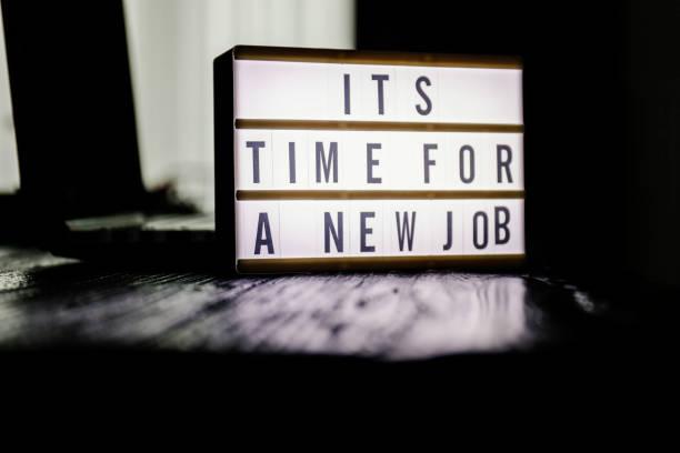det är dags för ett nytt jobb - new job bildbanksfoton och bilder