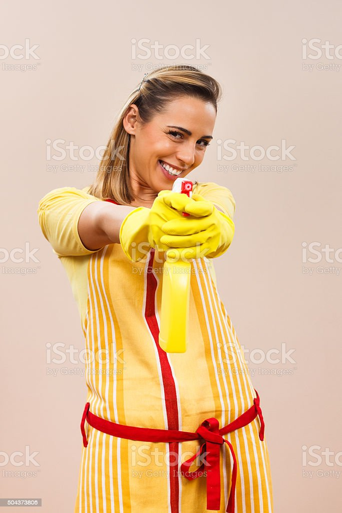 It`s time for cleaning stock photo