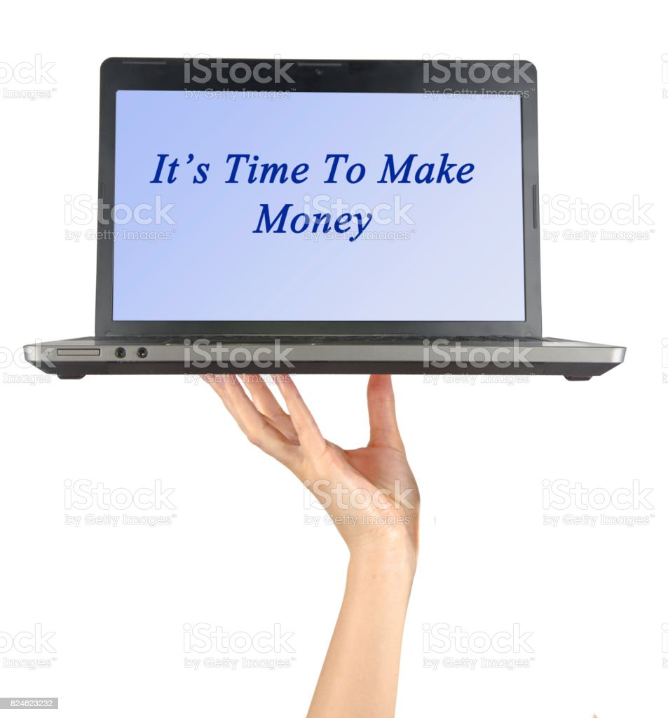 It's time to make money stock photo