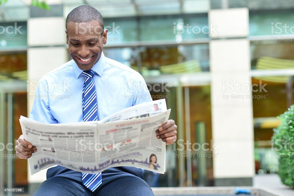 It's very interesting news. royalty-free stock photo