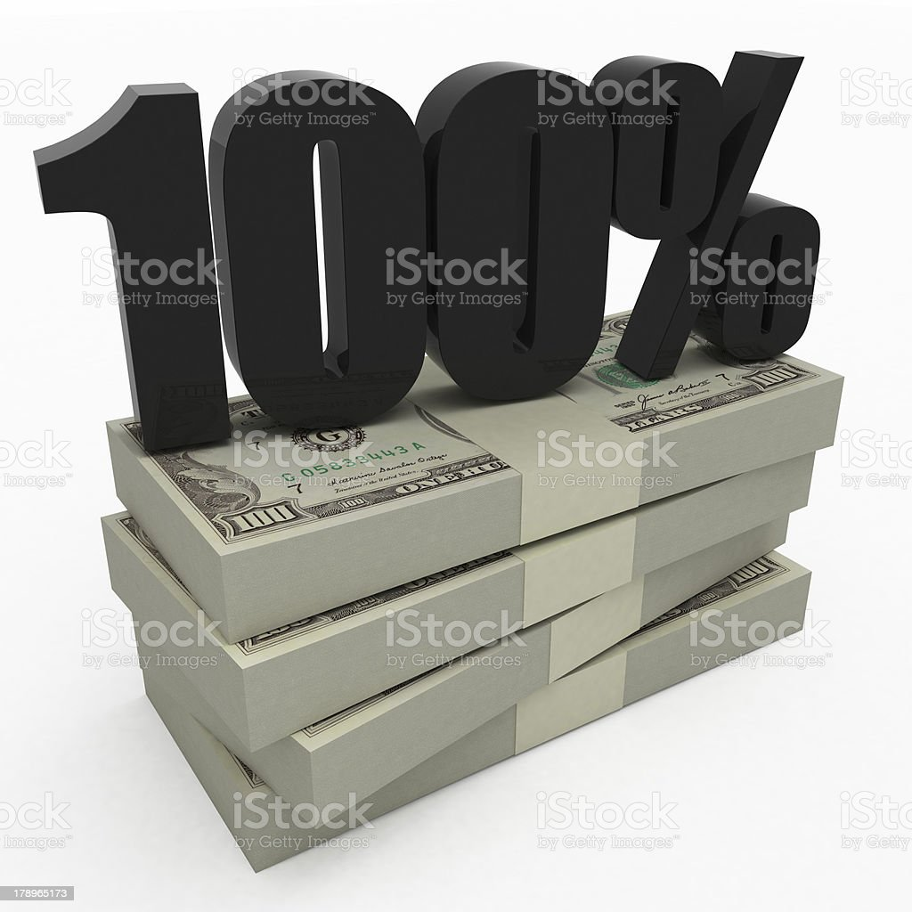 It's your 100 percent! royalty-free stock photo