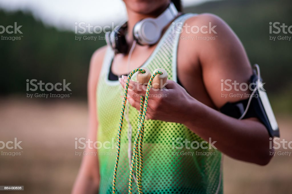 It's Your Turn For Jumping Rope stock photo