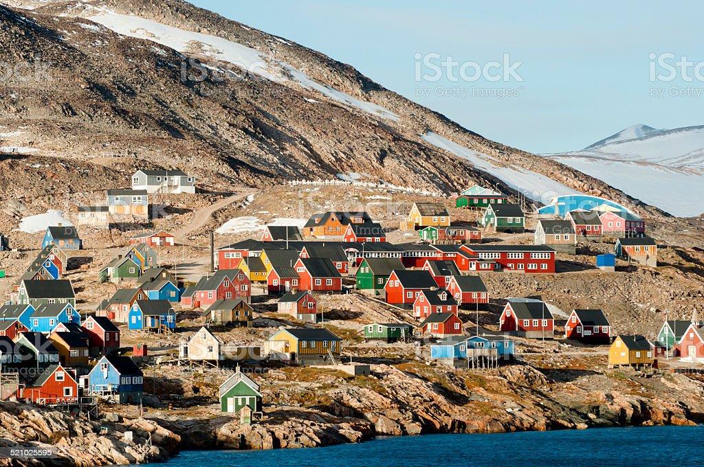 Ittoqqortoormiit Village - Greenland royalty-free stock photo