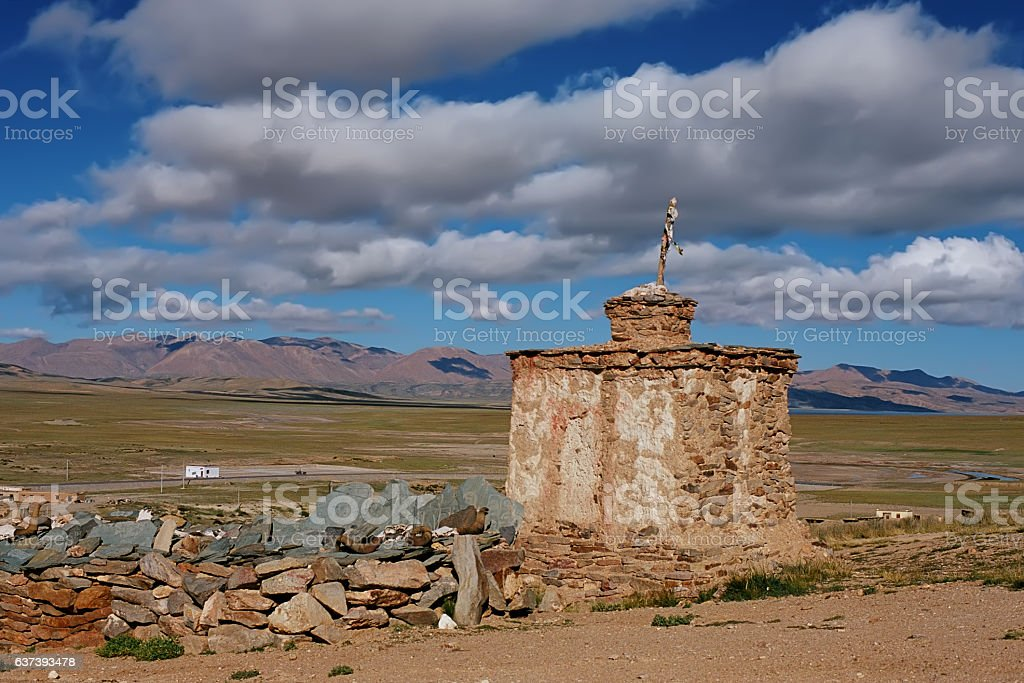 itual Buddhist construction Stupa. stock photo