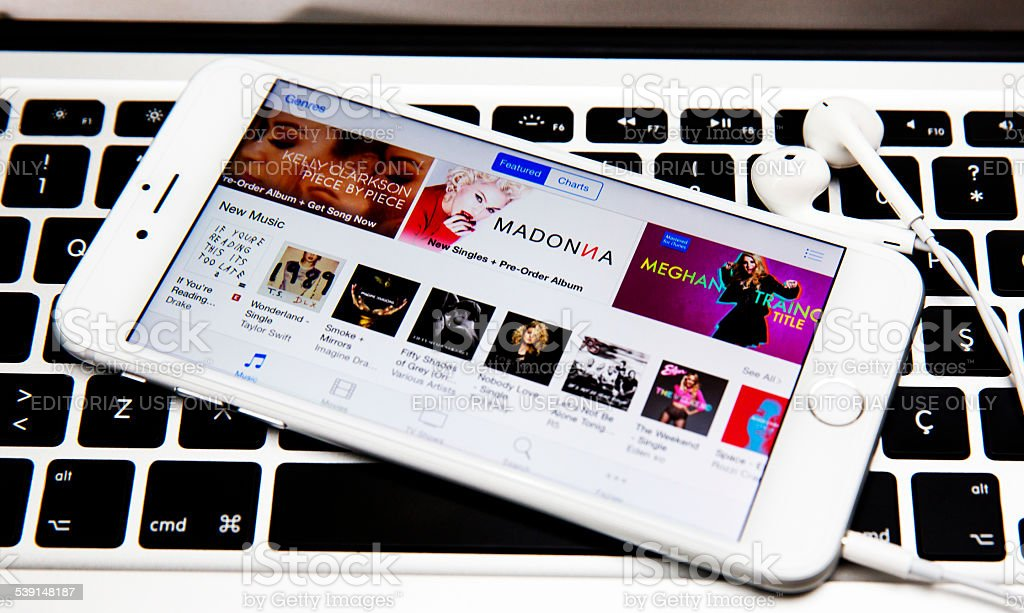 iTunes Music stock photo