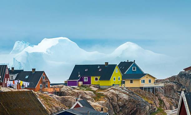 Iulissat, stranded icebergs, Greenland – Foto