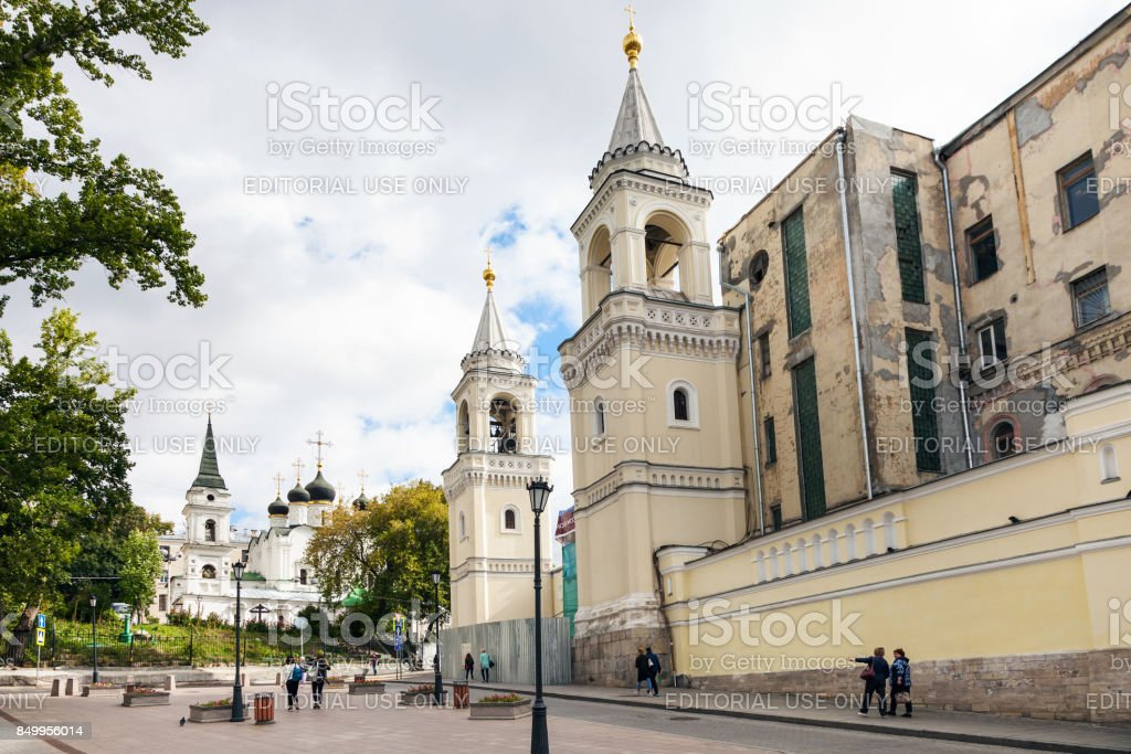 Ivanovsky (St John the Baptist) Convent in Moscow stock photo