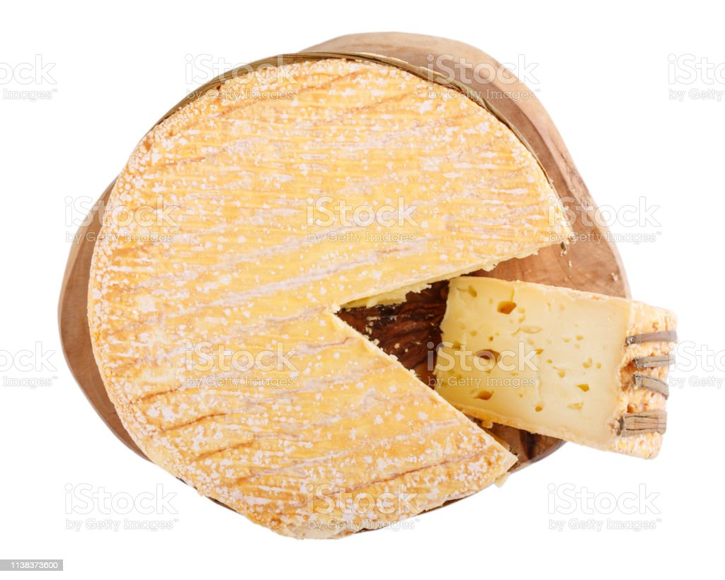 Livarote Cheese Isolated On White Soft French Cows Milk Cheese From Normandy Top View Stock Photo Download Image Now Istock