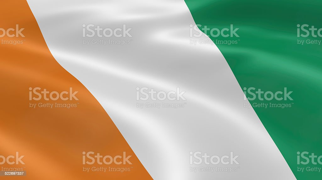 Ivoirian flag in the wind stock photo