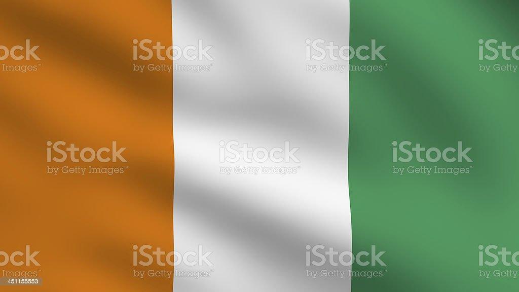 Ivory Coast flag stock photo