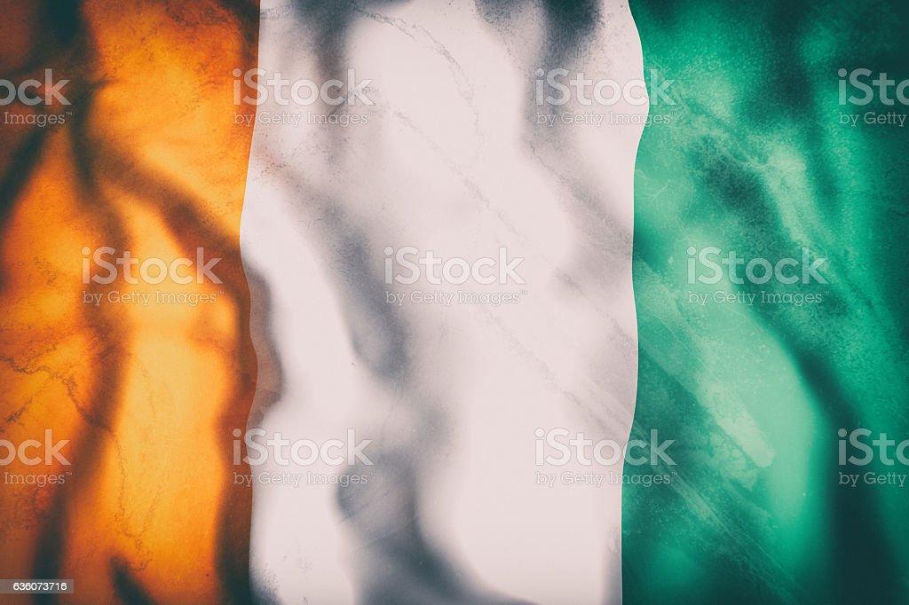 Ivory Coast flag waving stock photo