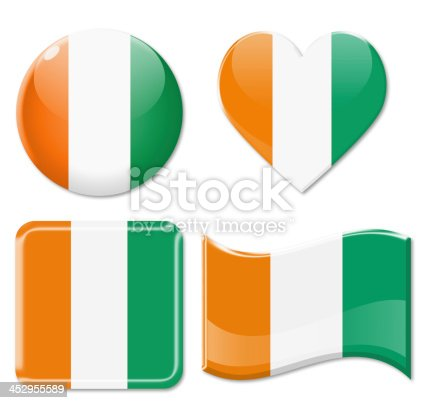 istock Ivory Coast Flags & Icon Set 452955589