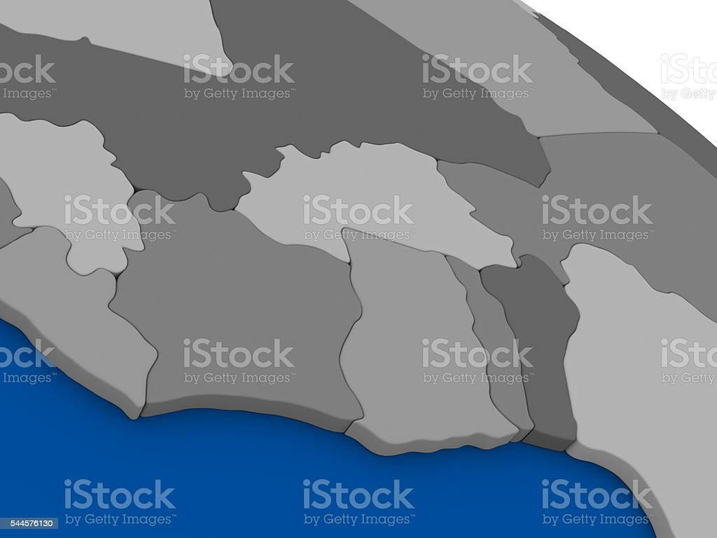Ivory Coast Ghana And Burkina Faso On Political Map Stockfoto und ...