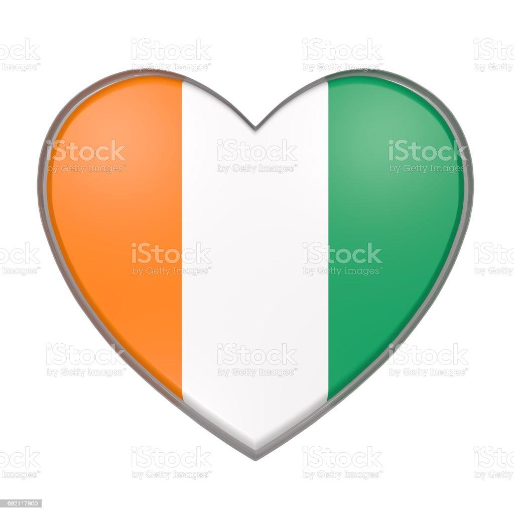 Ivory Coast heart stock photo