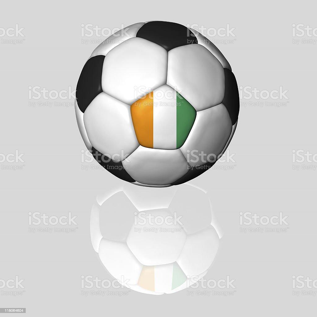 ivory coast soccer ball royalty-free stock photo
