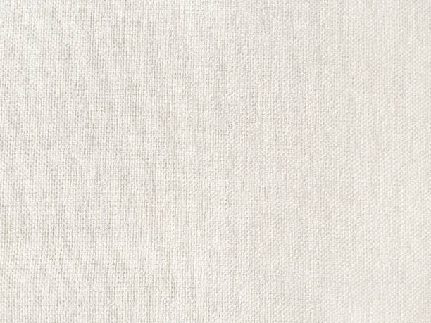 Ivory linen fabric textured stock photo