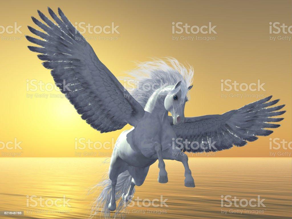 Ivory Pegasus stock photo