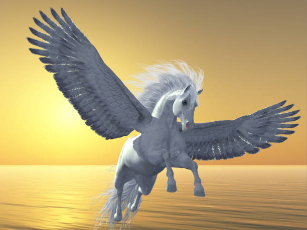 Ivory Pegasus stock photo