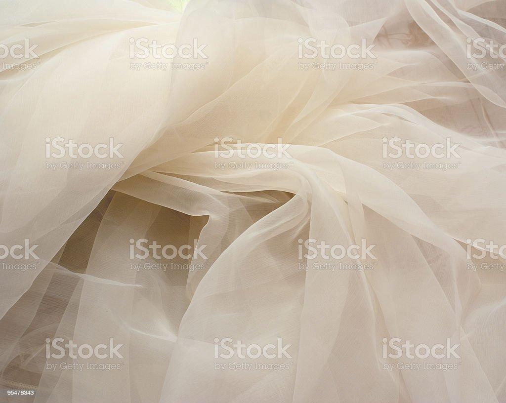 Ivory tulle stock photo