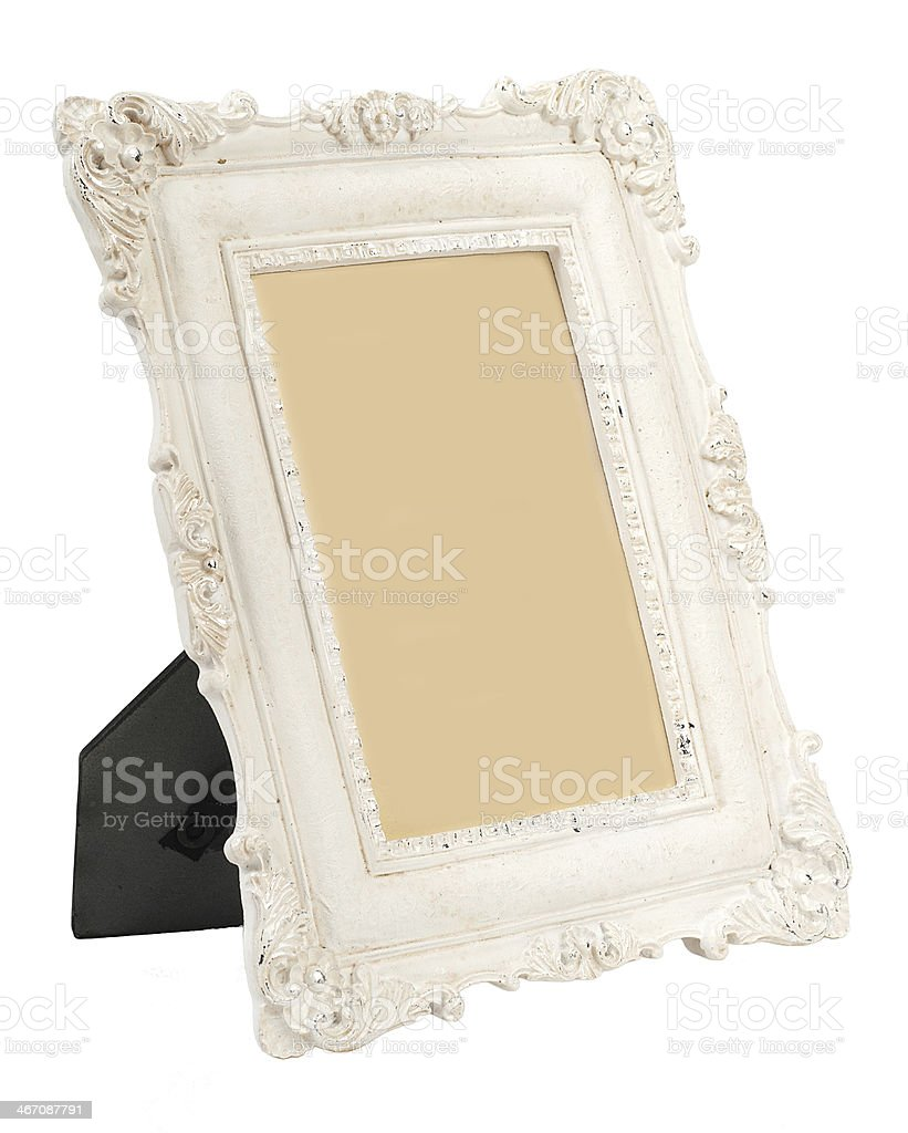 Ivory vintage photo frame stock photo