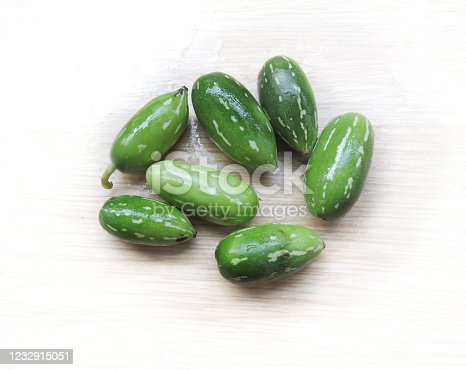Vegetable - Ivy gourd (Coccinia grandis) also known as scarlet gourd, tindora, and kowai fruit, is a tropical vine of family Cucurbitaceae. Mainly found in India. It is cooked as vegetable.