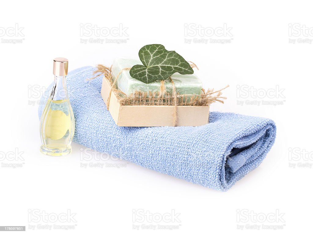 ivy leaf, soap royalty-free stock photo