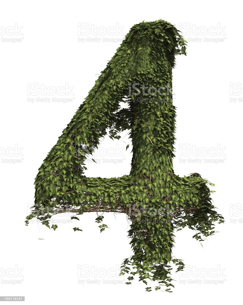 Ivy Number Four royalty-free stock photo