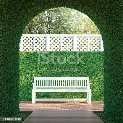 1140293905 istock photo Ivy tunnel 3d render 1140682945