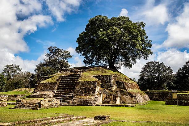 Iximche ruins stock photo