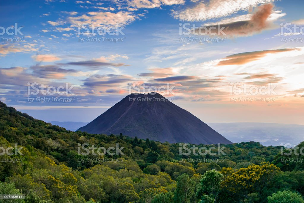 Izalco volcano in El Salvador stock photo