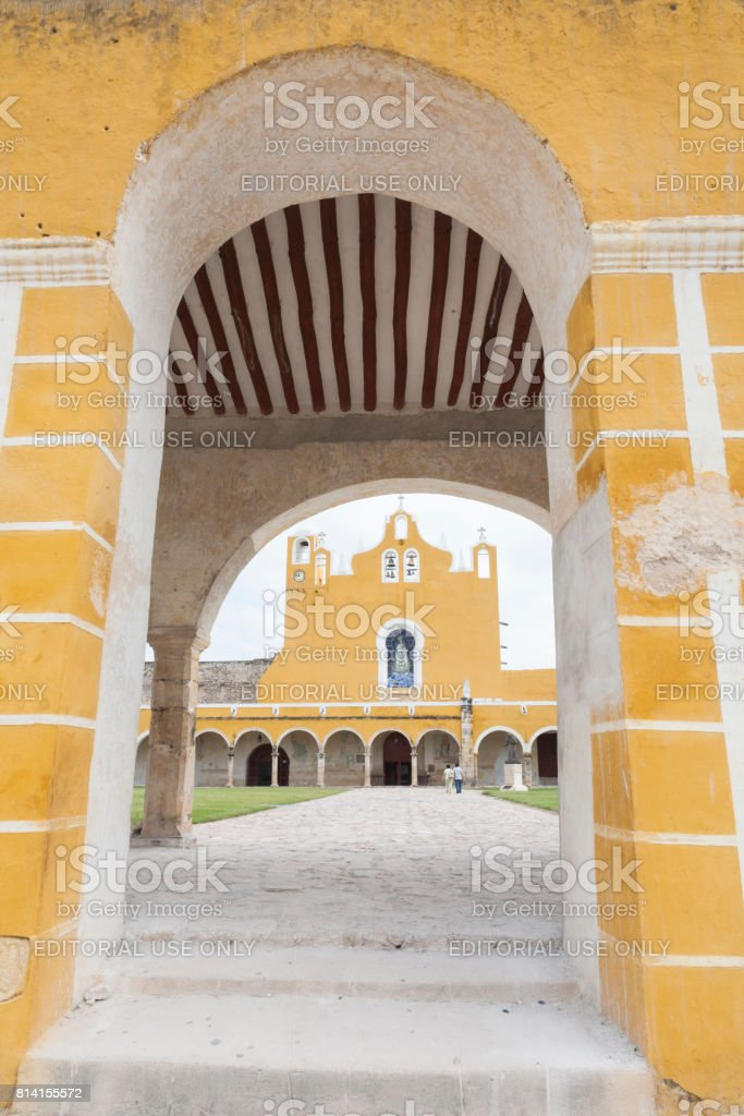 Izamal: Convento de San Antonio 10 stock photo