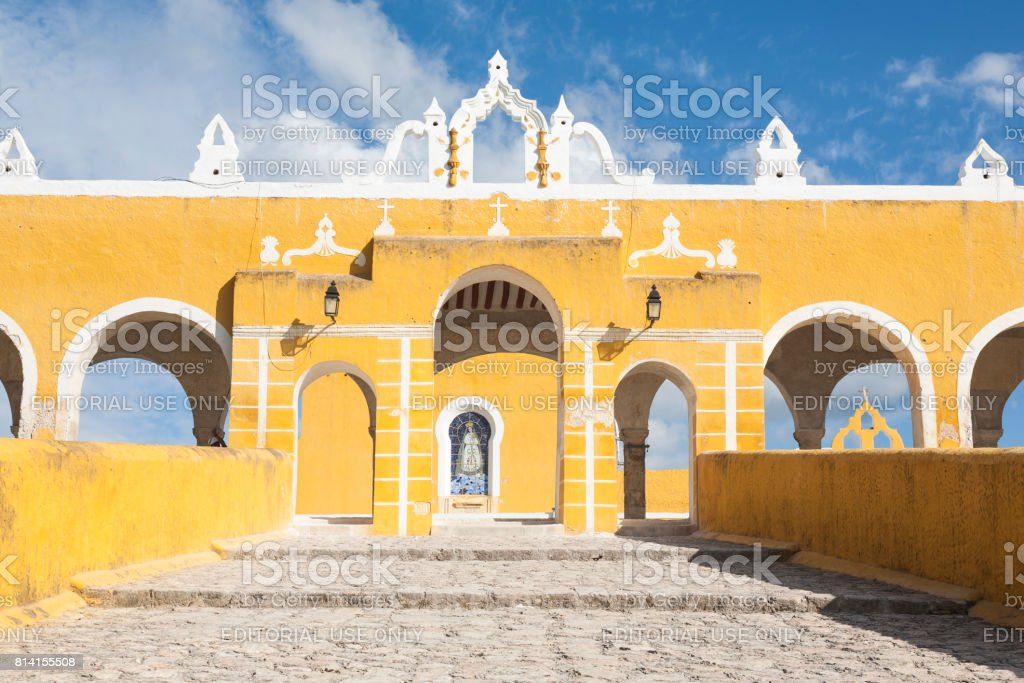 Izamal: Convento de San Antonio 8 stock photo