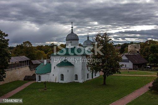 Izborsk medieval defensive fortress in the city of Izborsk in the Pskov region, Russia