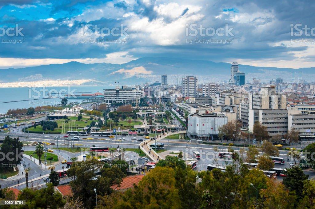 Izmir City in Turkey stock photo