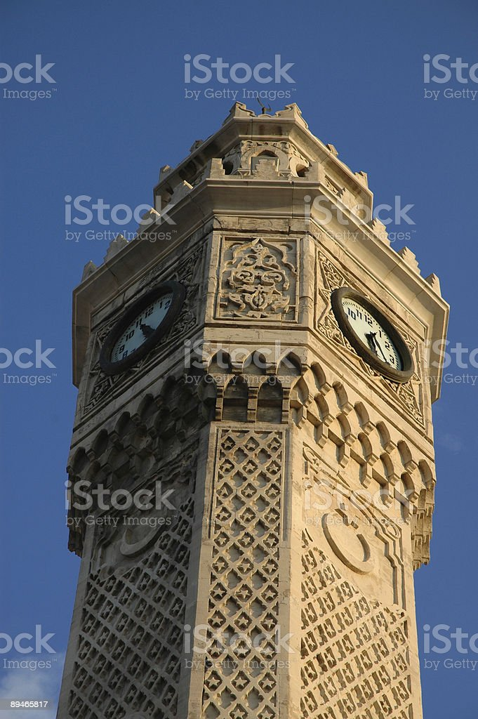 izmir clock tower royalty-free stock photo