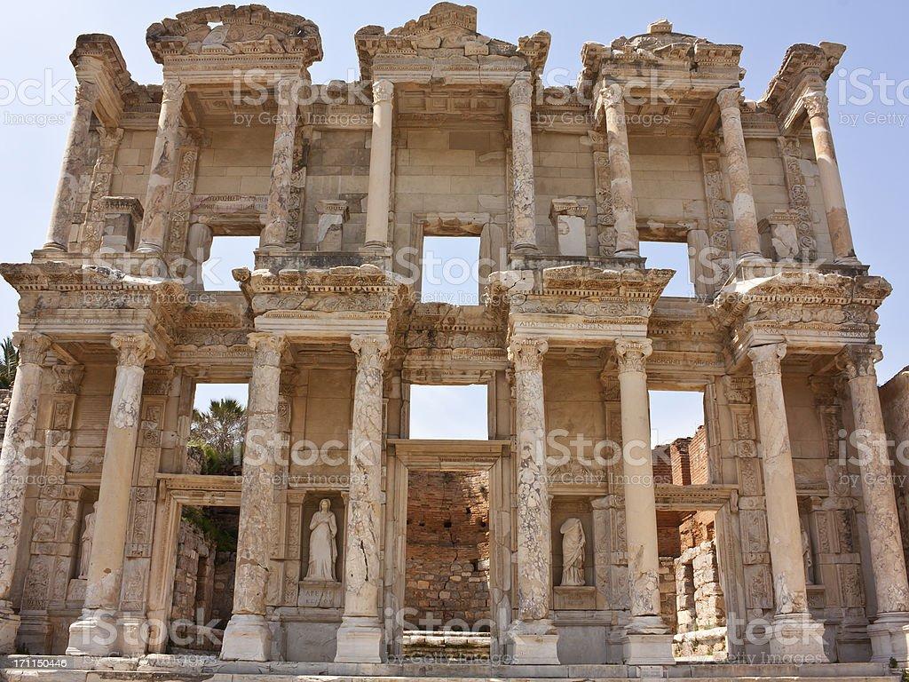 izmir ephesus celsus library, tourism travel destination stock photo